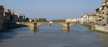 Florence. Bridge on the Arno river Royalty Free Stock Image