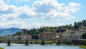 Florence bridge over the river Arno Royalty Free Stock Photo