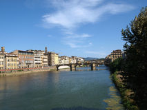 Florence - Buildings along Arno Royalty Free Stock Photography