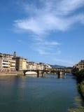 Florence - Buildings along Arno Stock Photos