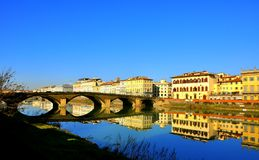 Florence buildings and river , Italy Stock Photography