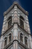 Florence Campanile. Looking up at the Campanile in Florence stock image