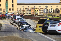 Florence,car crash Royalty Free Stock Photography