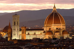 Florence cathedral. At evening, Tuscany, Italy Royalty Free Stock Photo