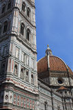 Florence Cathedral. Tower and Dome of Florence Cathedral - The Basilica di Santa Maria del Fiore, Italy Stock Images