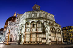 Florence Cathedral. (Duomo - Basilica di Santa Maria del Fiore) in the Morning, Tuscany, Italy Stock Photos