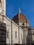 Florence Cathedral av St Mary av blomman, Florence Duomo Duomo di Firenze och den Giotto s campanilen av Florence Cathedral i Flo Arkivbilder