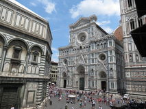 Florence cathedral & baptistery Stock Image