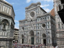 Florence cathedral & baptistery Stock Photo