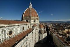 Florence Cathedral Basilica di Santa Maria Del Fiore, Campanile di Giotto, Cupola del Brunelleschi II Images libres de droits