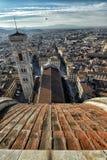 Florence Cathedral Basilica di Santa Maria Del Fiore, Campanile di Giotto, Cupola del Brunelleschi IV Fotos de archivo