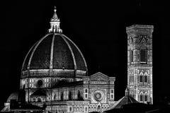 Florence Cathedral Basilica di Santa Maria Del Fiore, Campanile di Giotto, Cupola del Brunelleschi VI Fotografía de archivo