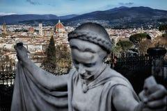 Florence Cathedral Basilica di Santa Maria Del Fiore, Campanile di Giotto, Cupola del Brunelleschi X Imágenes de archivo libres de regalías