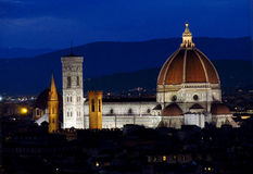 Florence Cathedral Basilica di Santa Maria del Fiore Piazza Duomo Arkivbilder