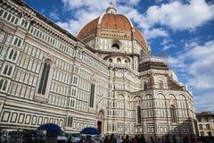 Florence Cathedral Basilica di Santa Maria del Fiore Piazza Duomo Arkivfoto