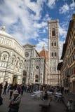 Florence Cathedral Basilica di Santa Maria del Fiore Piazza Duomo Arkivbild