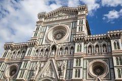 Florence Cathedral Basilica di Santa Maria del Fiore Piazza Duomo Royaltyfria Bilder