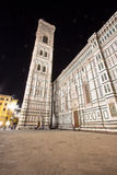 Florence Cathedral and bell tower at night, Italy Stock Photography