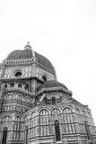 Florence Cathedral in bianco e nero Immagine Stock Libera da Diritti
