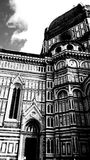 Florence Cathedral. Black and White shot of Florence Cathedral Stock Images