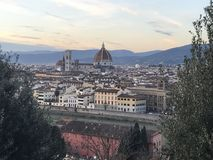 Florence cathedral and Brunelleschi's Dome. stock photo