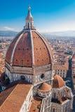 Florence Cathedral, de koepel van Brunelleschi stock foto
