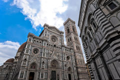 Florence Cathedral in der Perspektive Stockfotos