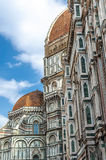 Florence Cathedral Detail. The Cattedrale di Santa Maria del Fiore is the main church of Florence, Italy. Il Duomo di Firenze, as it is ordinarily called royalty free stock photo