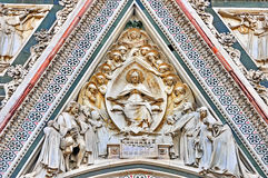 Florence Cathedral Detail. Detail of the Florence Cathedral, the town`s most famous landmark, Italy Royalty Free Stock Photo