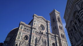 Florence Cathedral Dome Tuscany Italy HD. Duomo Cattedrale di Santa Maria del Fiore Firenze Toscana Italia - Cathedral of Saint Mary of the Flower Florence stock video footage