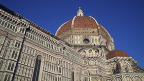 Florence Cathedral Dome Tuscany Italy HD. Duomo Cattedrale di Santa Maria del Fiore Firenze Toscana Italia - Cathedral of Saint Mary of the Flower Florence stock footage