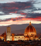 Florence cathedral in the evening Italy Stock Images