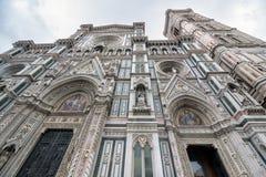 Florence Cathedral, formalmente il Di Santa Maria del Fiore di Cattedrale, in inglese immagini stock libere da diritti