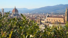 Florence Cathedral formellt den Cattedrale dien Santa Maria del Fiore stock video