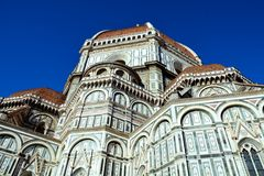Florence cathedral, front view Royalty Free Stock Photos