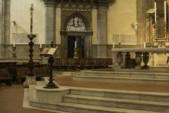 Florence Cathedral inomhus Arkivfoton
