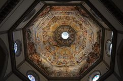 Florence Cathedral, Florence, koepel, plafond, de bouw, symmetrie royalty-vrije stock fotografie