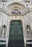 Florence Cathedral main door detail Royalty Free Stock Photos
