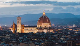 Florence, Cathedral, night panorama Royalty Free Stock Photo