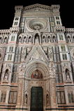 Florence cathedral by night Royalty Free Stock Images