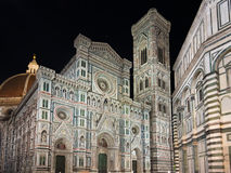 Florence cathedral by night, Tuscany, Italy Royalty Free Stock Photography