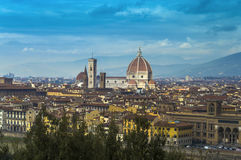 Florence Cathedral - panorama royaltyfri fotografi
