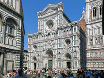 Florence Cathedral at Piazza del Duomo, Italy stock photography