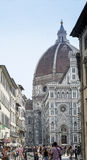Florence Cathedral  from Piazza San Giovanni    Royalty Free Stock Photography