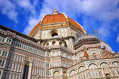 Florence Cathedral. Florence and Cathedral of Santa Maria del Fiore Stock Photo