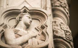 Florence Cathedral statue Stock Images