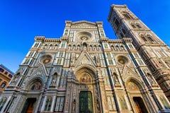 Florence Cathedral van Heilige Mary van de Bloem, Florence Duomo Duomo di Firenze en en Campanile van Giotto s van Florence Cathe royalty-vrije stock afbeelding