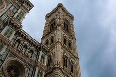 Florence Cathedral. A view of façade of Florence Cathedral with Giotto's bell tower, Italy stock images