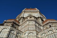 Florence cathedral. View of the Florence cathedral , the half view in the spring, Florence, Italy Stock Images