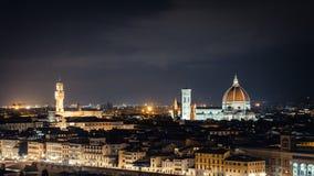 Florence Cathedral y el Palazzo Vecchio imagen de archivo libre de regalías